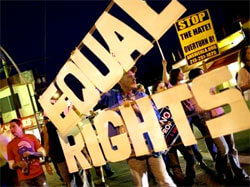 Equal rights protest.