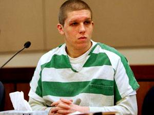 Daniel Petric in court.
