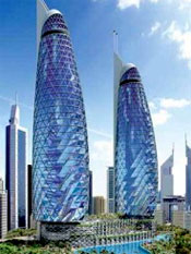 Dubai towers, built by slaves.