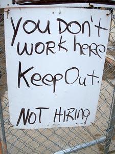 Not hiring!