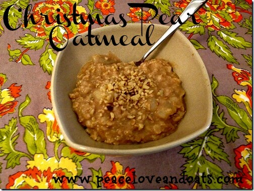 Christmas Pear Oatmeal