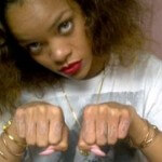 Rihanna Displays Her Fist Tattoo