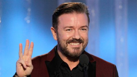 Ricky Gervais Shocks as Host of Golden Globes