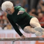 86-Year-Old-Gymnast Shows the Kids How it's Done