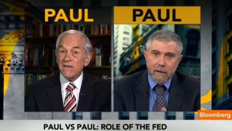 Ron Paul and Paul Krugman Duke it Out on Bloomberg TV