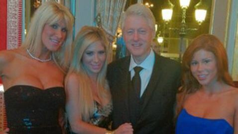 Bill Clinton Photographed with Porn Stars at Monaco Event