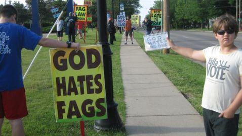 Child Counter-Prostests Westboro Baptist Church