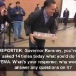 Mitt Romney Ignores FEMA Questions