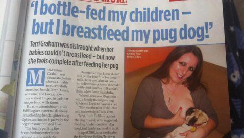 Mother of Two Breastfeeds Daughter's Dog