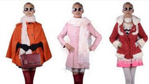 Grandpa Knocks China Over as Lady's Fashion Model
