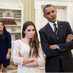 McKayla Maroney and Obama are not Impressed