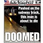 New York Post Features Photograph of Man as He is Hit by Train