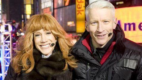 Kathy Griffin Puts Anderson Cooper in Awkward 'Position' on CNN NYE Telecast