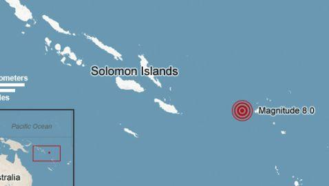 Tsunami Strikes Solomon Islands Following Earthquake