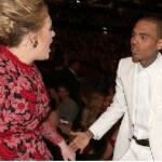 Adele Yells at a Sulky Chris Brown