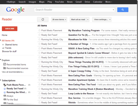 Google Reader & Bloglovin' Tutorial
