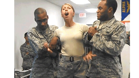 Air Force Woman Gets Tazed for Fun