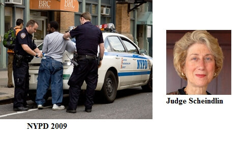 District Judge Shira Scheindlin Ordered Off Stop n Frisk Case