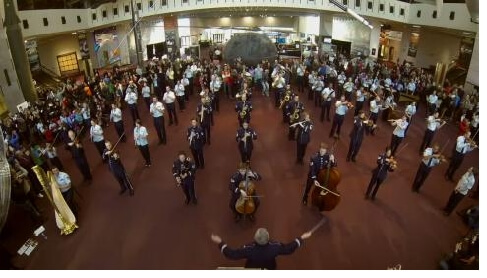 U.S. Air Force Band Surprise Flash Mob at the National Air and Space Museum
