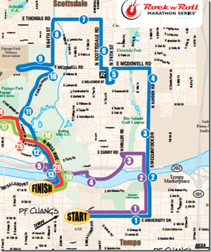 rock n roll course map