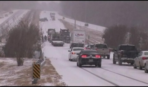 Winter Storm Causes Epic Southern Gridlock