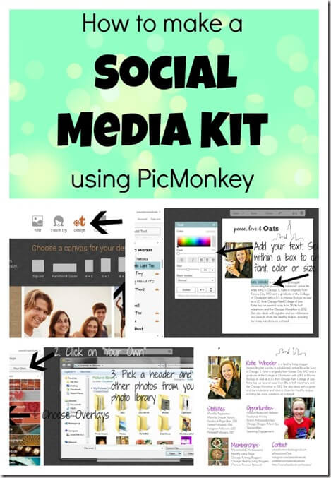 How To Make A Social Media Kit Using PicMonkey