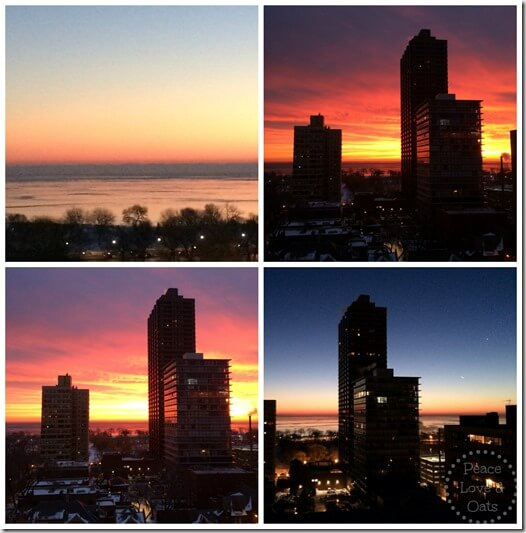 sunrise collage