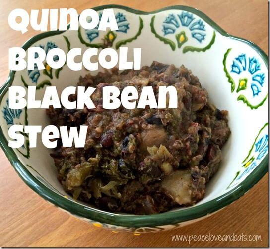 Quinoa Broccoli Black Bean Stew 2