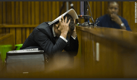 Oscar Pistorius Sickened after Photos of Bloody Scene in Bathroom Shown in Court