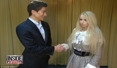 Human Barbie and Ken Meet Face to Face