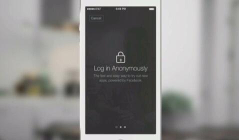 Facebook Anonymous Login Feature
