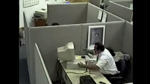 Man Hits Computer