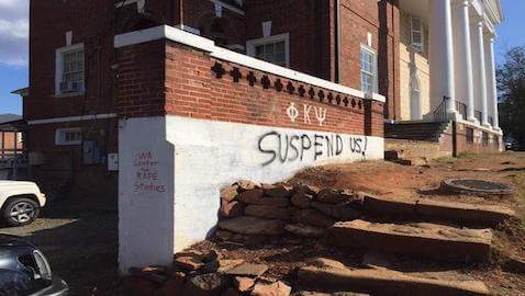 Graffit outside the Phi Sigma Psi house