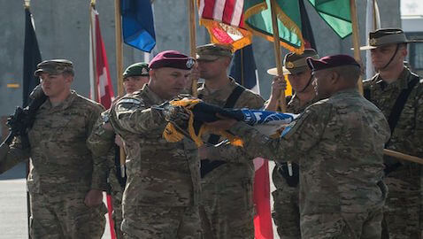 A flag-lowering ceremony in Afghanistan signaled the end of the U.S. war in the country.