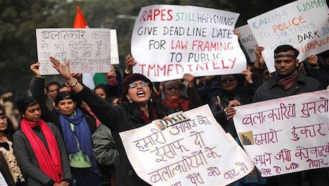 Protests from 2013 in India regarding the safety of women.