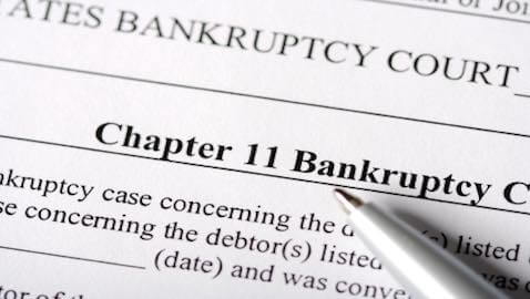 A real estate closing firm has been forced to file for bankruptcy after one of its partners embezzled millions of dollars.
