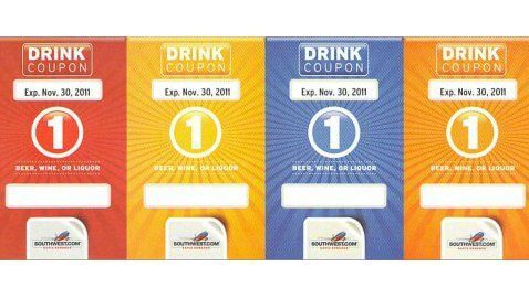 Southwest drink coupons