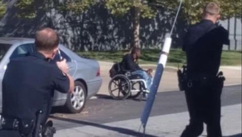 A 28-year-old man in a wheelchair was shot and killed by police after he allegedly reached for a gun.