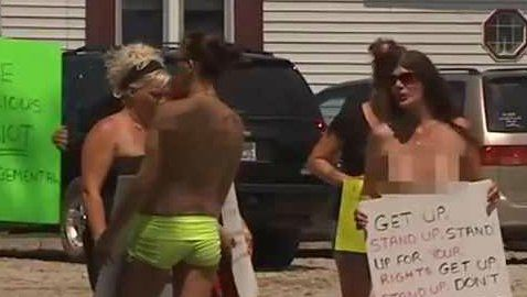 strip-club protesters