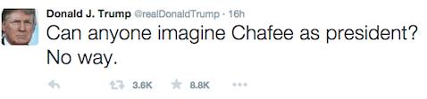 Trump - Chafee