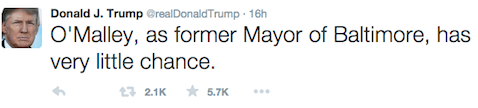 Trump - O'Malley