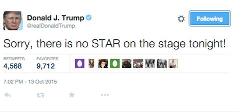 Trump - no star