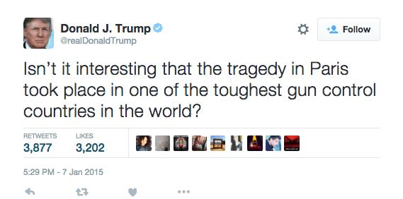 Donald Trump Tweeting About Guns