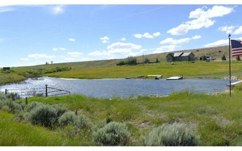 Stock pond Wyoming