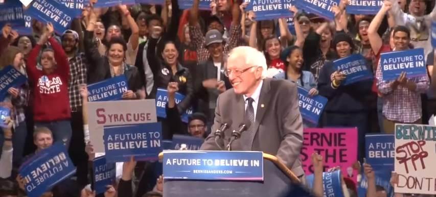 Bernie Sanders saying Trump will never be president.