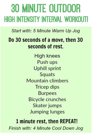 30 Minute Outdoor Total Body High Intensity Interval Workout