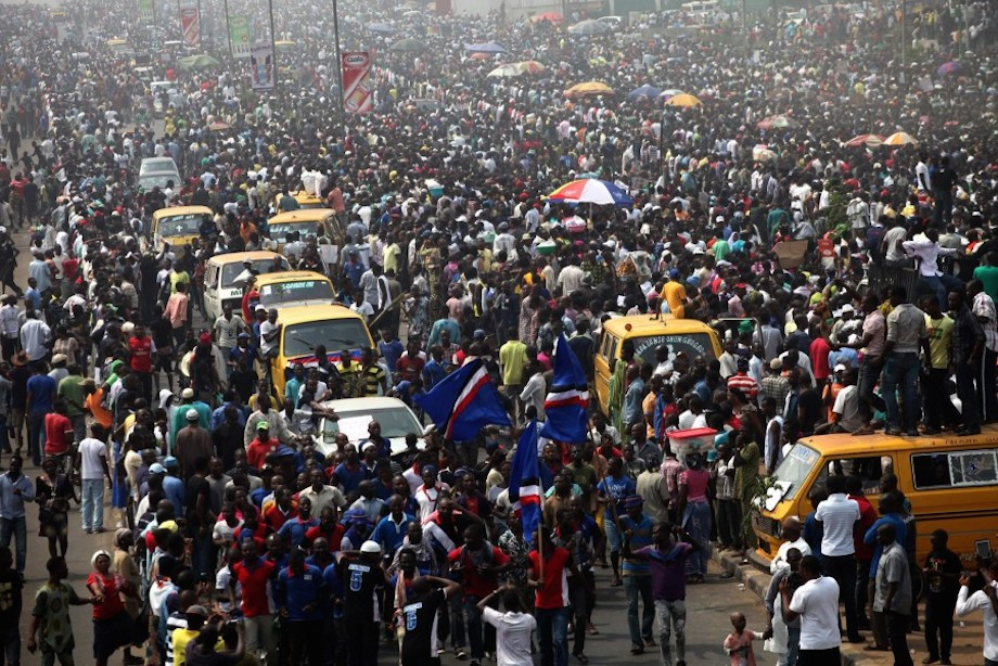 Nigeria is the most stressed out nation due to living conditions.