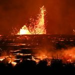 Hawaiian Lava Wall Cuts Off Highway 137